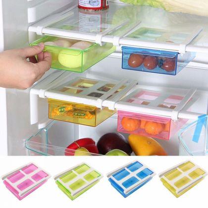 Контейнер для холодильника на пластиковом основании, синий, 20 х 15 х 6,8 см