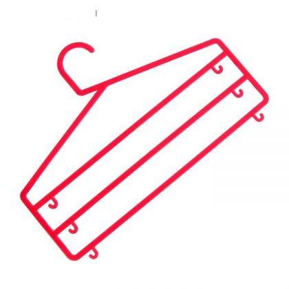 Вешалка тройная с крючками, 35 x 0,5 x 25 см