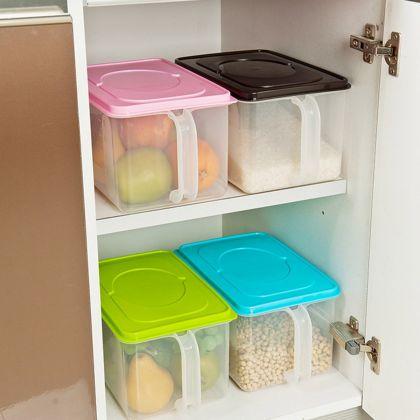 Контейнер для холодильника с ручкой, зеленый, 31,5 x 18,5 x 15 см