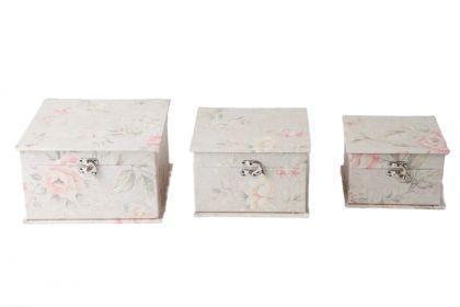 Набор коробок с замком, 3 шт, 21,2 х 21,2 х 12 см