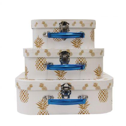 "Набор коробок ""Golden Pineapple"", 3 шт, 30 х 21 х 9,5 см"