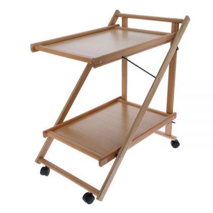 Складной сервировочный столик, бежевый, 75 х 45 х 62 см