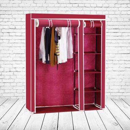 """Тканевый шкаф """"Дабл"""", красный, 110 x 43 x 172 см"""