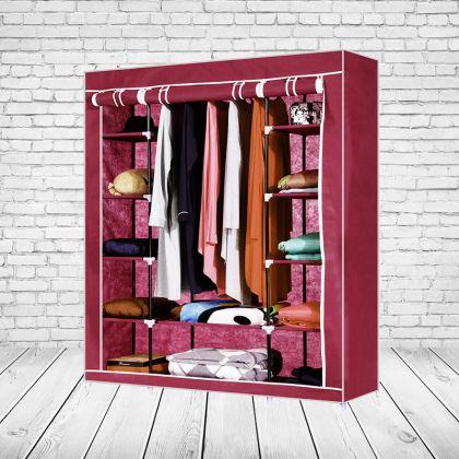 """Тканевый шкаф """"Трио"""", красный, 133 x 43 x 172 см"""