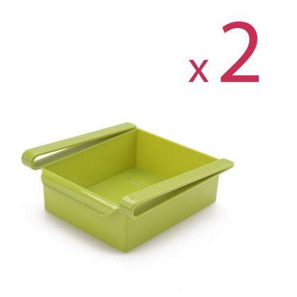 """Комплект из двух контейнер для холодильника """"Homsu"""", зеленый, 16 х 15,5 х 7 см"""