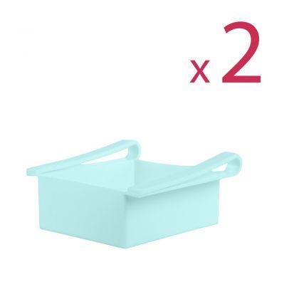 """Комплект из двух контейнеров для холодильника """"Homsu"""", голубой, 16 х 15,5 х 7 см"""