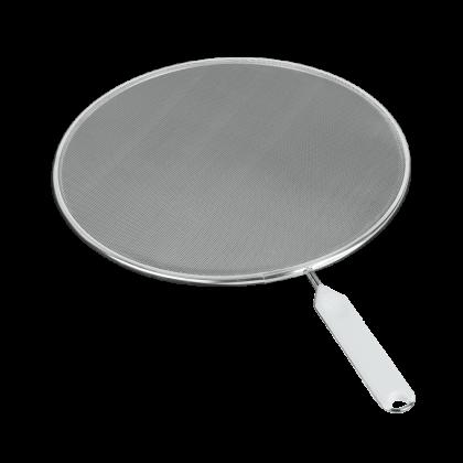 Крышка-сетка от брызг на сковородку, белая, 26 см
