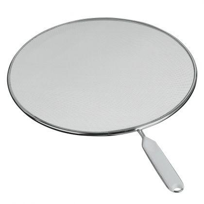 Крышка-сетка от брызг на сковородку, белая, 33 см