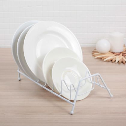 Сушилка для тарелок на семь штук, белая, 28 х 14 х 16,5 см