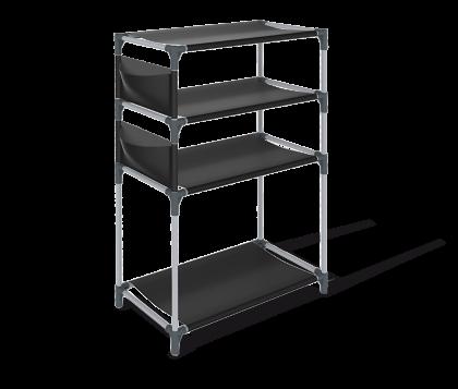 Тканевый стеллаж для обуви, черный, 63 x 30,5 x 92 см
