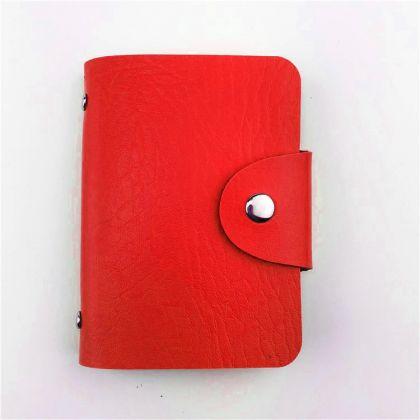 Кардхолдер красный, 10,5 х 7 см