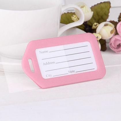 """Бирка на чемодан """"Juicy"""", розовый, 9 х 5 см"""