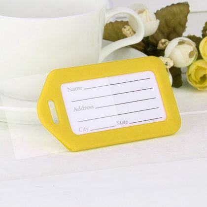 """Бирка на чемодан """"Juicy"""", желтый, 9 х 5 см"""