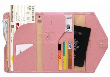 """Холдер для документов """"Конверт"""", розовый, 21,5 х 9,5 см"""