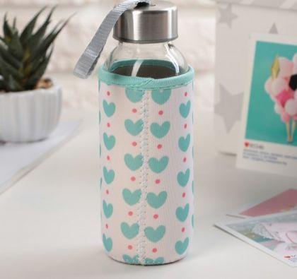 """Бутылка для воды """"Sweet"""", в чехле, 300 мл, 6 х 6 х 17,5 см"""