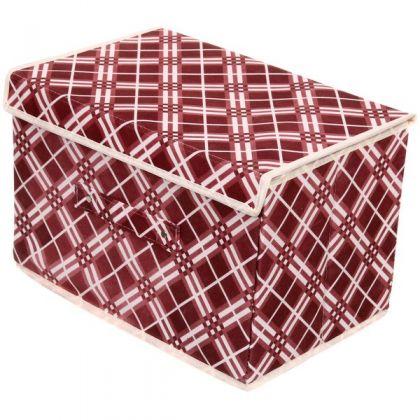 """Коробка для хранения вещей """"Шотландская клетка"""", 37 х 24 х 24 см"""