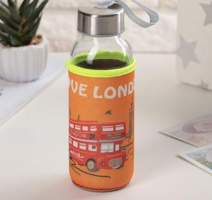 """Бутылка для воды """"London"""", 300 мл, 6 х 6 х 16,5 см"""