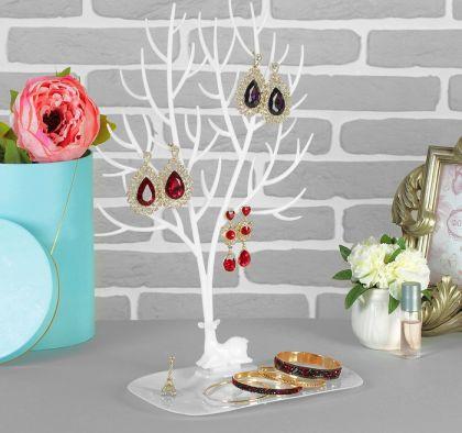 """Подставка для украшений """"Дерево"""", белый, 25 х 15 х 41 см"""