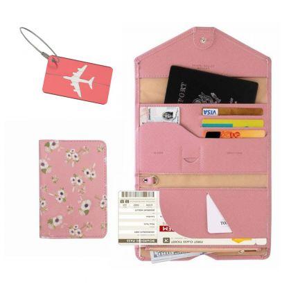 Комплект для путешествий, розовый