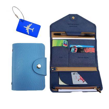 Комплект для путешествий с кардхолдером, синий