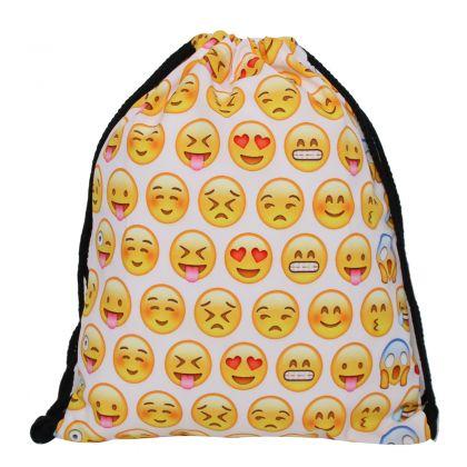 """Сумка-мешок для сменной обуви """"Emojis"""", 39 x 30 см"""
