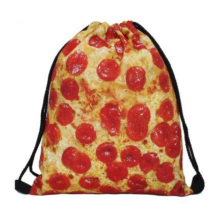 """Сумка-мешок для сменной обуви """"Pizza"""", 39 x 30 см"""
