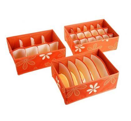 Органайзеры 3в1 Премиум, без крышки, оранжевый