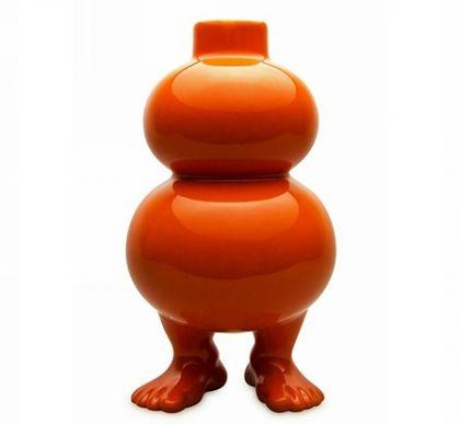 Ваза на ножках оранжевая