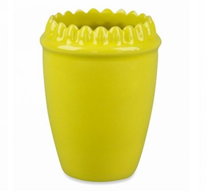 Зубной стакан на ножках желтый