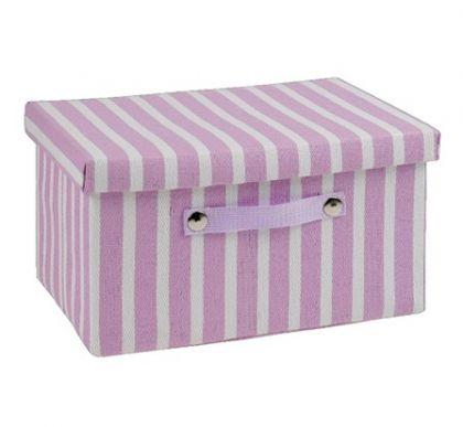 Ящик в полоску прямоугольный L, лаванда