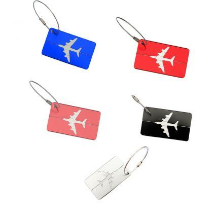 """Комплект бирок на чемодан """"Самолет"""", 5 штук"""