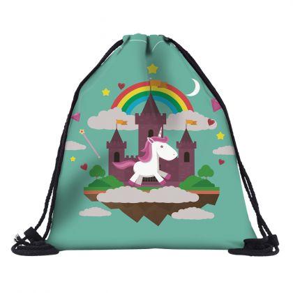 """Сумка-мешок для сменной обуви """"Unicorn's Castle"""", 39 x 30 см"""