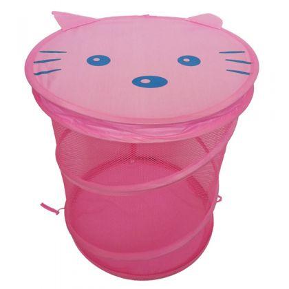 """Сумка для игрушек """"Котик"""", розовая, 38 х 45 см"""