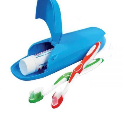 """Футляр для зубной щетки """"Travel"""", голубой, 6,5 х 5 х 22 см"""