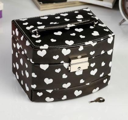 "Шкатулка для украшений ""White hearts"", 16 х 13 х 11 см"