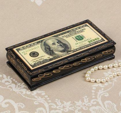"""Шкатулка для денег и украшений """"Доллар"""", 8,5 х 17 х 5 см"""