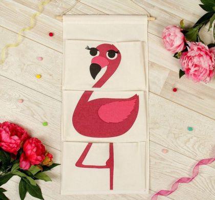 "Подвесные кармашки для детского сада ""Фламинго"", 64 х 28,5 х 1 см"