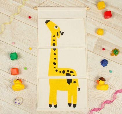 "Подвесные кармашки для детского сада ""Жираф"", 63,5 х 35 х 1 см"