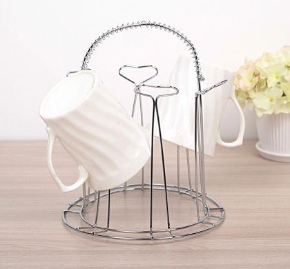 Сушилка для чашек и стаканов круглая, 16,5 х 16,5 х 21,5 см