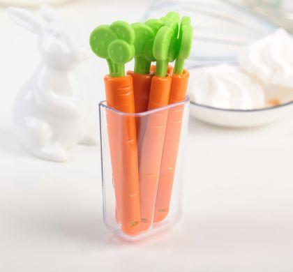 """Набор зажимов для пакетов """"Carrot"""", 5 шт, 12 х 5 х 3 см"""