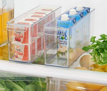 Прозрачный контейнер для холодильника, 30 х 10 х 10 см