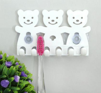 Держатель для зубных щеток, белый, 7 x 2 х 12 см