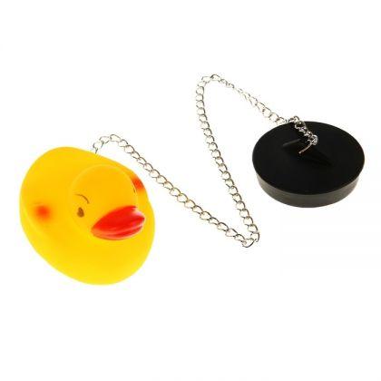 """Пробка для ванны с игрушкой """"Duck"""", 40 x 4,8 см"""
