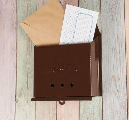 Ящик почтовый «Letter», коричневый, 27 x 7,5 x 23 см
