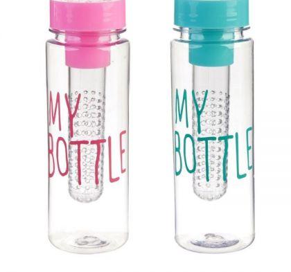 """Бутылка для воды, """"Lifestyle"""", 420 мл, 6,5 х 6,5 х 19,5 см"""
