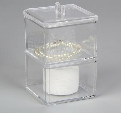 Органайзер для косметических принадлежностей, 2 секции, 15 х 9,5 х 9,5 см.