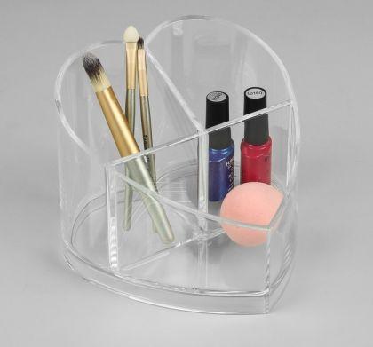 Органайзер для косметических принадлежностей, 3 секции, 15,7 х 15,7 х 12,7 см
