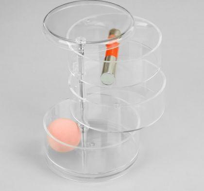 Органайзер для косметических принадлежностей, 3 секции, 14 х 11,5 х 11,5 см