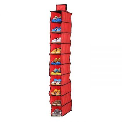 Подвесной органайзер для обуви на 10 штук, 15 х 30,5 х 120 см