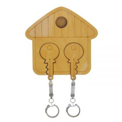 """Ключница с брелоками """"Избушка"""", 11 х 0,5 x 11 см"""